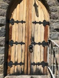 Church doors - notice key in the lock!